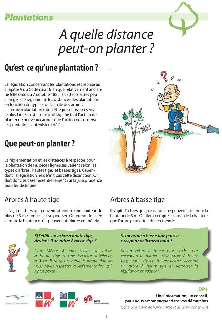 Dp1 a quelle distance peut on planter espace environnement - Distance plantation arbre maison ...