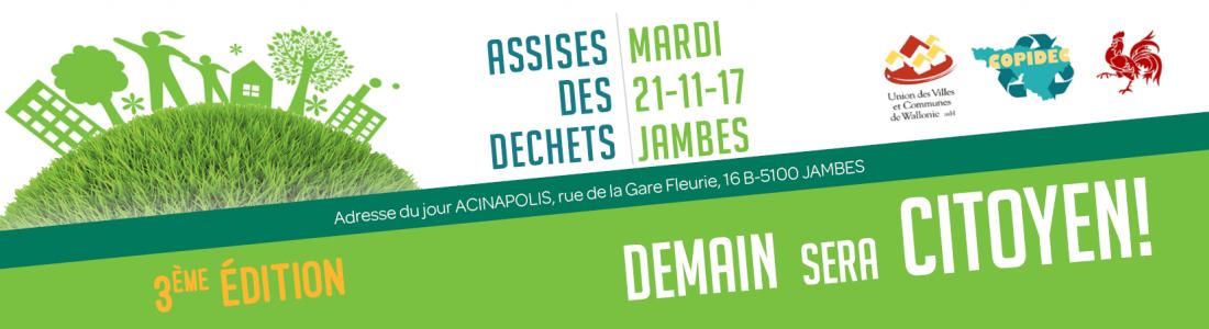Espace Environnement sera présent aux 3èmes assises des déchets le 21 novembre à Jambes : «Demain sera citoyen»