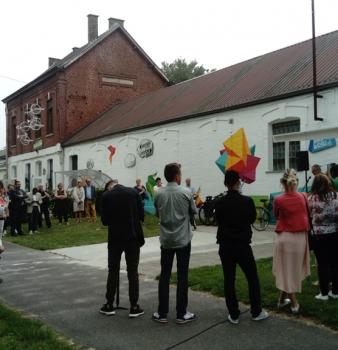 Popul'Art Cité, inuaguration des projets des jeunes…