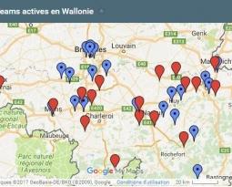 Découvrez la carte du réseau des Ecoteams en institutions publiques