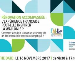 Quelles sont les conditions de déploiement de la «Rénovation Accompagnée» en Wallonie ? Participez au séminaire transfrontalier le 16 novembre