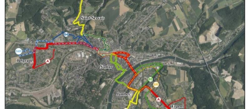 NAM'inMove : un réseau bus hiérarchisé en 2018 à Namur