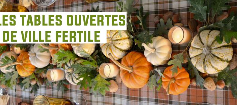 Première table d'hôtes de Ville Fertile : Invitation le mardi 7 novembre 2017 à midi