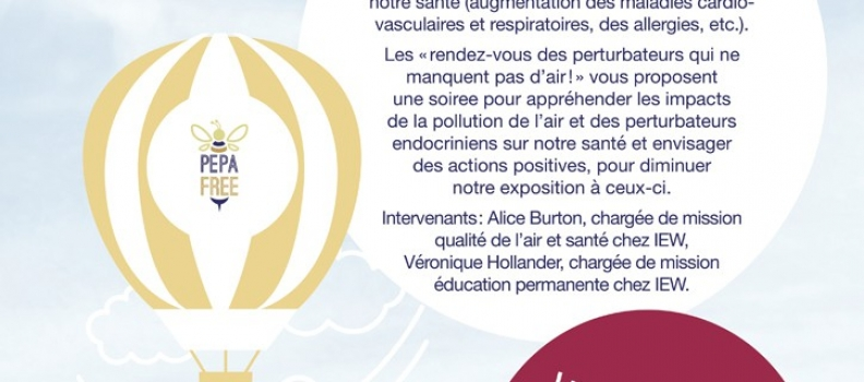 Une soirée pour parler des perturbateurs endocriniens le 28 novembre à Espace Environnement