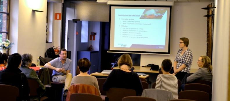 Une conférence sur l'autopartage le 19 juin dernier à Péruwelz