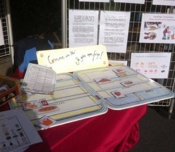 Animation et sensibilisation à l'alimentation durable et à la réduction du gaspillage alimentaire sur le marché des produits locaux de Courcelles