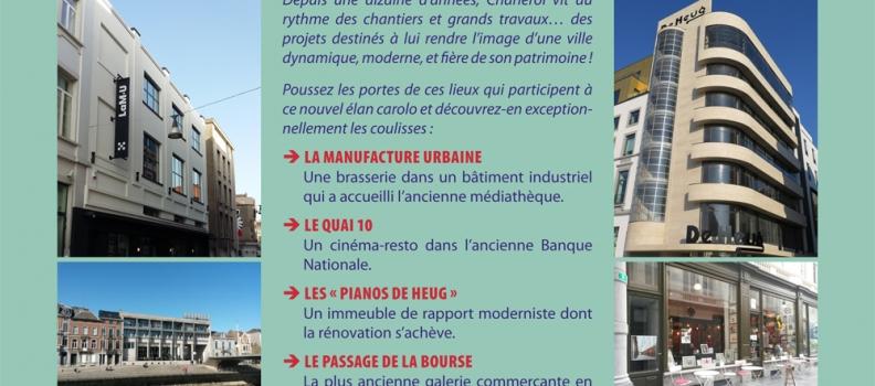Journées du Patrimoine, venez découvrir les coulisses du renouveau de Charleroi