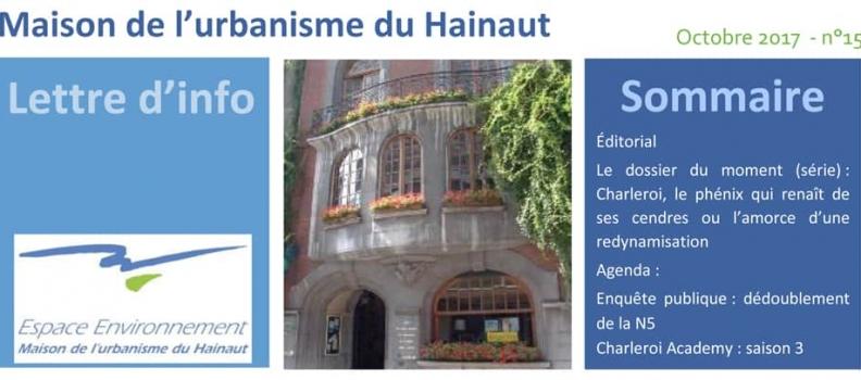 Maison de l'urbanisme : newsletter n°15