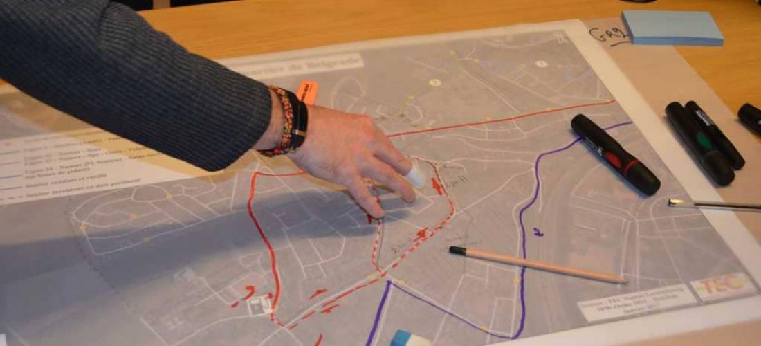 NAM'In Move : animation de la participation citoyenne dans le cadre de la modernisation des lignes TEC de quartiers namurois