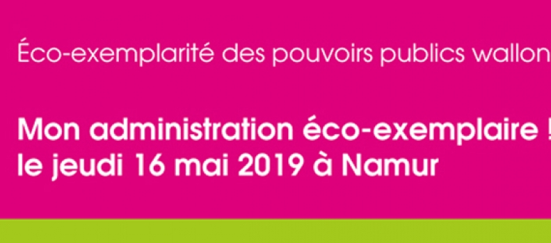 EcoTeam : Mon administration éco-exemplaire ! le jeudi 16 mai à Namur