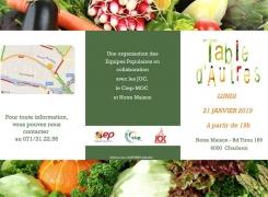Table d'Autres le 21 janvier : partagez un repas préparé à partir d'invendus du marché