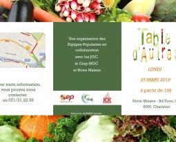 Table d'Autres le 25 mars : partagez un repas préparé à partir d'invendus du marché