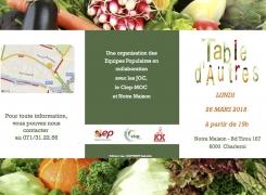 Table d'autres le 26 mars : partagez un repas préparé à partir d'invendus du marché